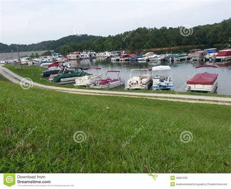 used pontoon boats kentucky lake pontoon boats at grayson lake marina editorial stock photo