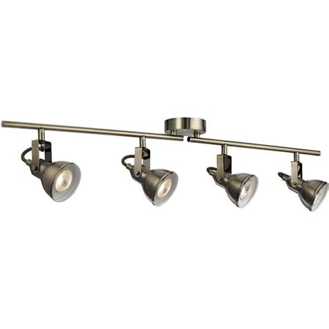 Philips Home Decorative Lights by Searchlight Lighting Focus 4 Light Ceiling Spotlight Bar In Antique Brass Lighting Type From