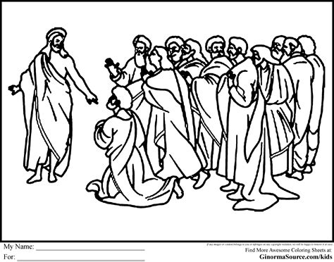 coloring pages jesus appears to the disciples jesus coloring pages disciples coloring pages