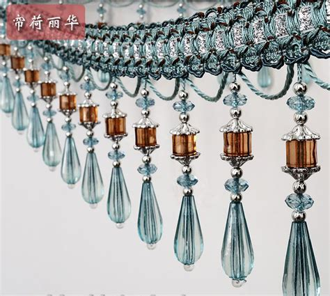 beaded fringe for curtains hot sale luxury fashion craft curtain lace high quality