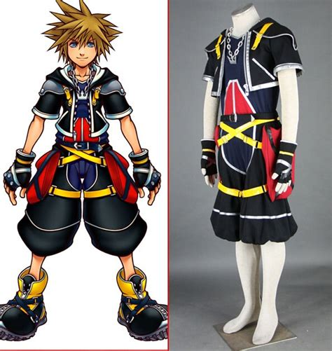 Kaos Anime Kingdom Hearts 3 Tees Kg Kh 02 Costume Kingdom Hearts Sora Black Mens