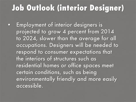 Interior Design Career Outlook by Outlook Interior Designer Interior Design Outlook