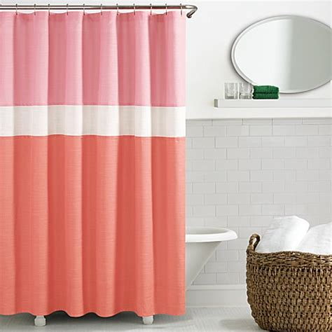 kate spade bed bath and beyond kate spade spring street shower curtain in coral bed
