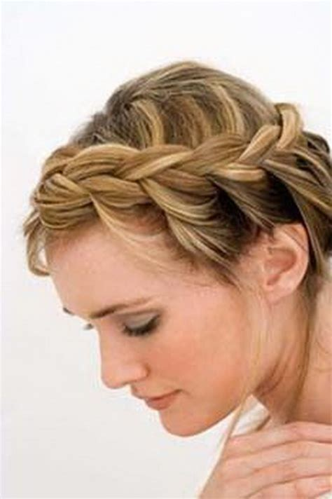a wanded updo braided hairstyles for medium length hair