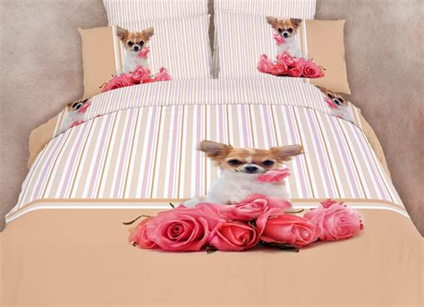 puppy bedding chihuahua dog themed girls bedding twin or queen duvet