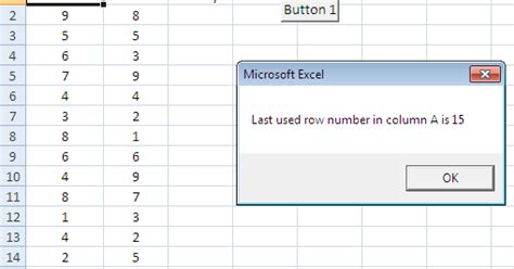 Find Without Last Name Excel Vba Address Of Last Cell In Column Excel Vba Find Last Used Row And Column