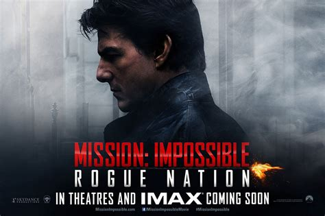 Poster Mission Impossible Rogue Nation 20x30cm Mission Impossible Rogue Nation Promo Posters Mirror