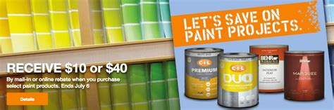 home depot paint event the home depot canada paint coupons save 10 or 40 by