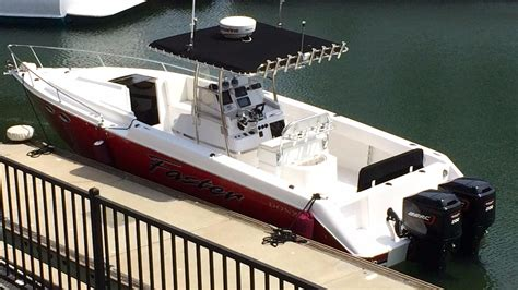 center console boats with cabin for sale 1987 used donzi f 33 cuddy cabin center console fishing