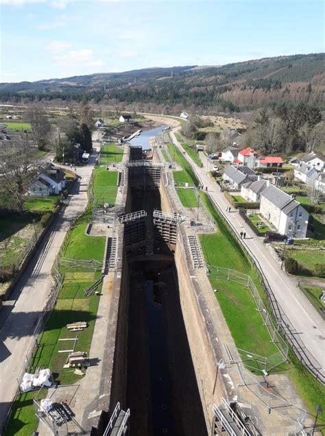 ecs  replace  gates  scotlands world heritage site canal lock flight ecs engineering
