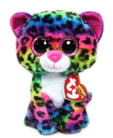 ty beanie boo dotty multicolor leopard plush stuffed animal doll toy 6 quot cad 7 85 picclick ca