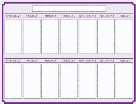 Weekly Appointment Calendar Template Word