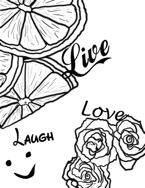coloring pages live love laugh free coloring pages of live laugh love
