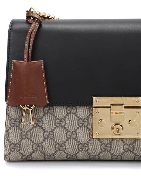 New Gucci Padlock Gg Supreme 6603 padlock gg supreme shoulder bag by gucci shoulder bags