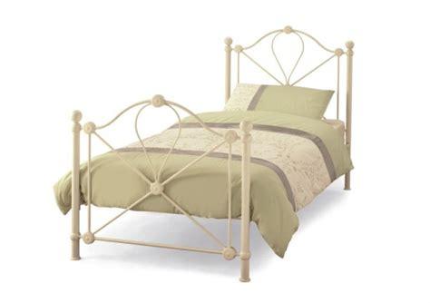 lyon bed frame serene lyon 3ft single ivory metal bed frame by serene