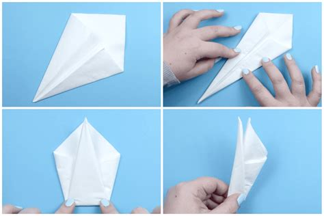 how to make an origami napkin swan