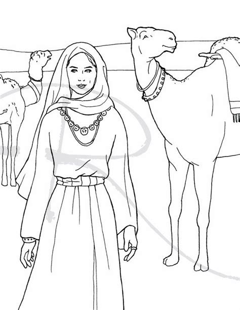 isaac marries rebekah coloring pages pictures to pin on
