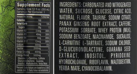 u energy drink nutritional information energy drink can kill just 2 cans a day can be fatal