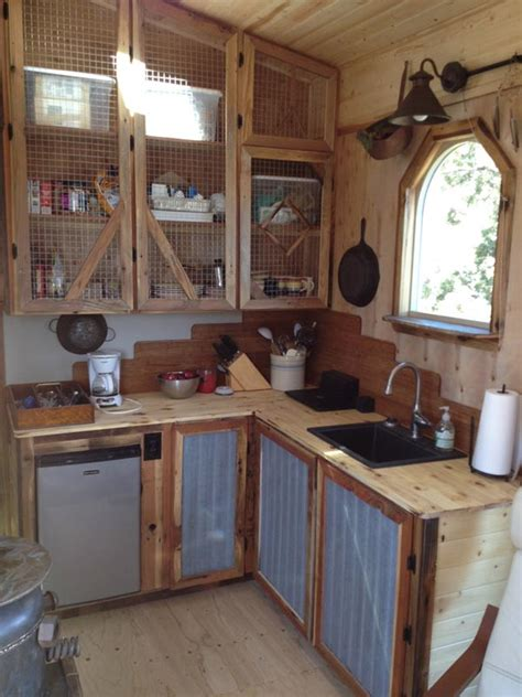kind tiny house packed  rustic chic design