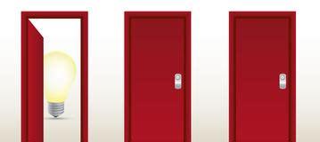 deur tot deur verkoop het op een kier concept van de deur lichtstraal royalty