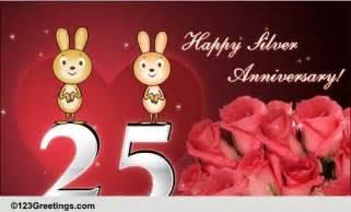 happy silver anniversary free milestones ecards greeting cards 123 greetings