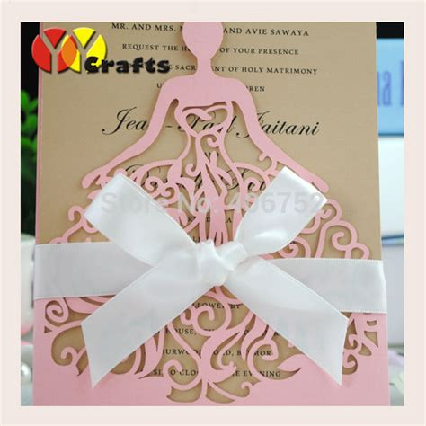 Special Wedding Invitation Card by Sweet Pink Birthday Wedding Invitation Card Laser Cut