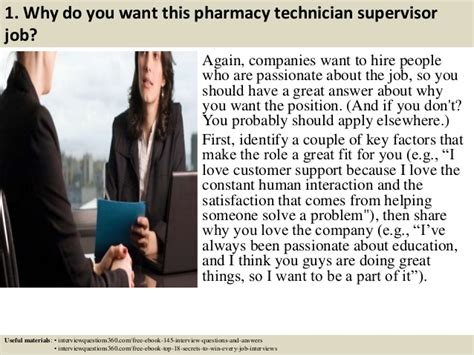 top 10 pharmacy technician supervisor questions