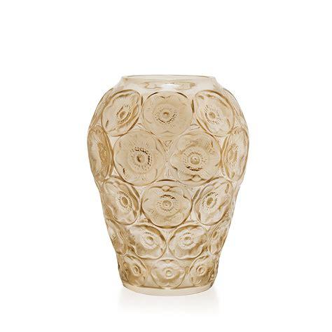 vasi lalique vase an 233 mones cristal lustr 233 or vase lalique cristal