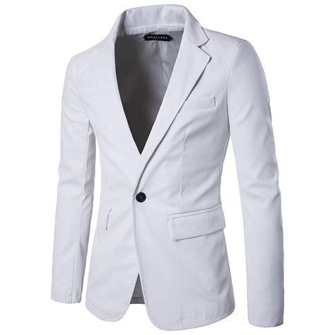Button Veste Blazer Vest Jaket Outer Wanita White white pu leather jacket 2017 brand new faux coats casual slim fit single button veste
