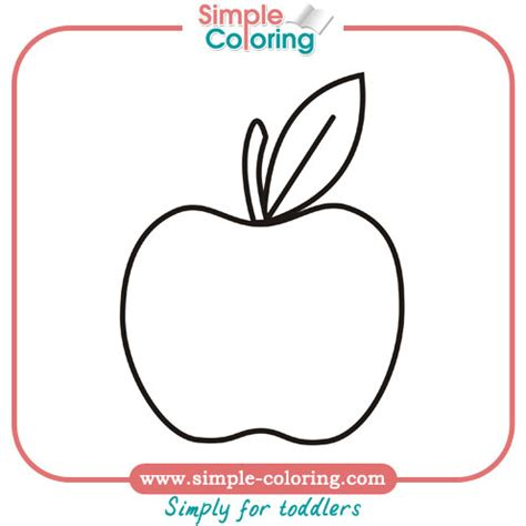 simple coloring pages for toddler apple simple coloring pages for toddlers