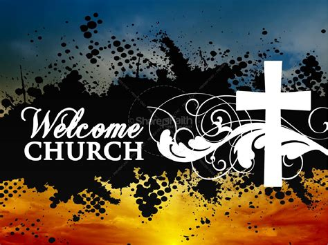 Welcome Church Powerpoint Slides Welcome Slide For Ppt