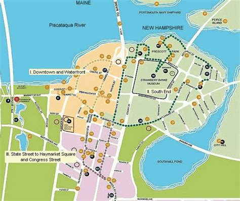portsmouth usa map follow the portsmouth new hshire harbour trail yes