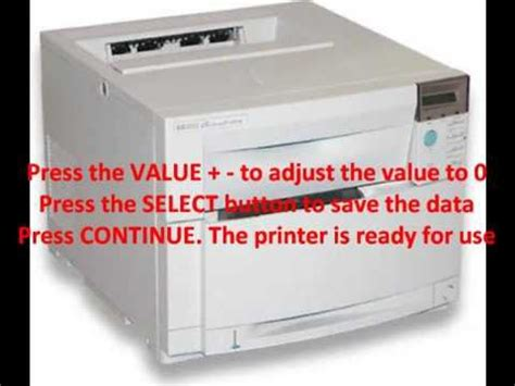 reset hp officejet 4500 to factory how reset fuser counter hp 4500 hp 4550 youtube