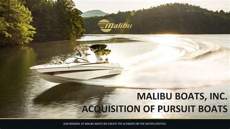 malibu boats buys pursuit mbuu pursuit acquisition presentation final malibu boats