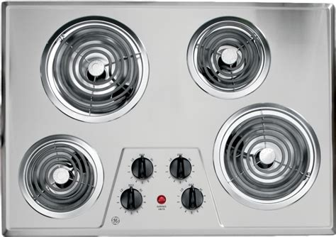 28 Inch Cooktop ge jp328skss 30 inch electric cooktop with 4 coil elements