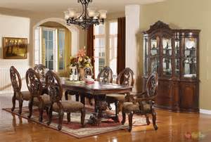 dining room set windham formal dining set walnut brown wood carved dining