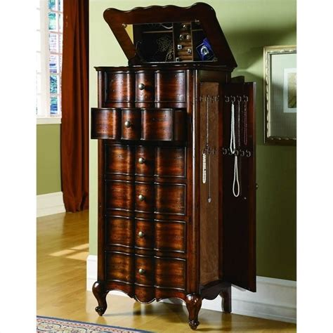 french jewelry armoire hooker furniture seven seas french jewelry armoire w flip top