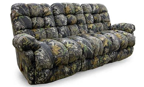 camo recliner sofa living room