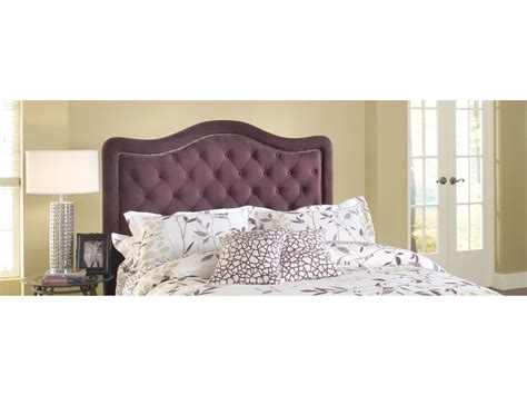 purple headboard queen hillsdale furniture bedroom trieste fabric headboard