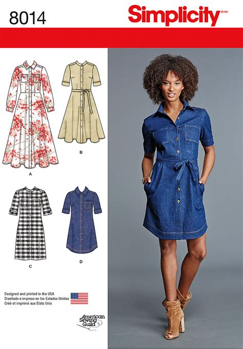 t shirt dress pattern simplicity simplicity 8014 misses shirt dress sewing patterns