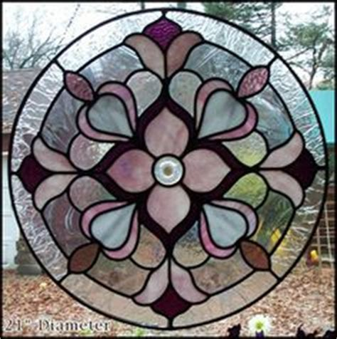 panneau de verre 3490 stained glass window panel with flower bevel
