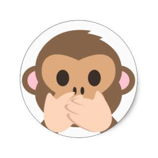 imagenes del emoji del mono pegatinas emoji del mono calcoman 237 as zazzle es
