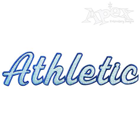 athletic color athletic font script two color embroidery font