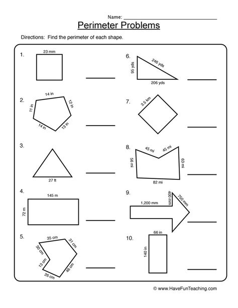 3rd Grade Area And Perimeter Worksheets