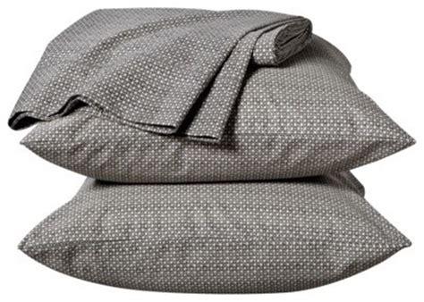 thomas o brien bedding thomas o brien percale sheet set navy grid traditional sheet and pillowcase sets