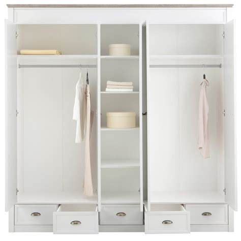 armoire penderie largeur armoire penderie 232 re 5 portes miroirs 5 tiroirs