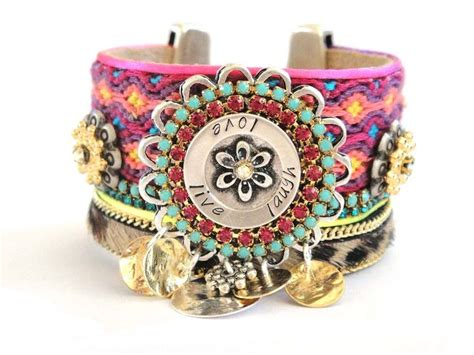 how to make hippie jewelry bohemian hippie jewelry friendship bracelet cuff in pink