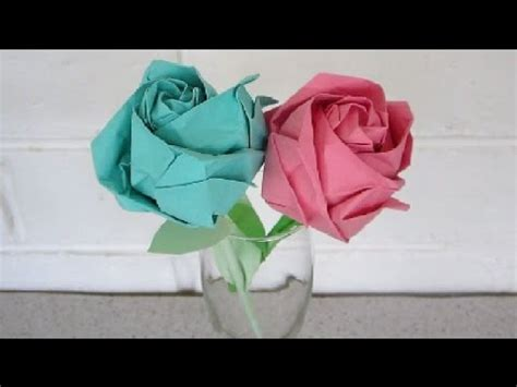 How To Make Easy Paper Roses Step By Step - origami an easy step by step tutorial