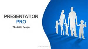 cutout family widescreen powerpoint template background in