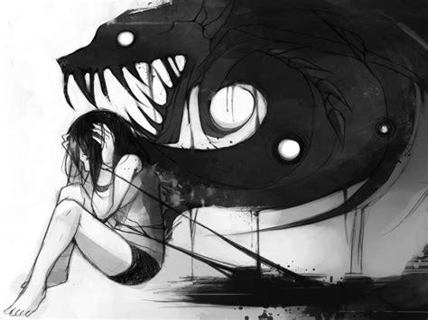 Inner demon anime girl drawings shadow demon anime girl inner demon